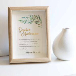 baptism gift frame